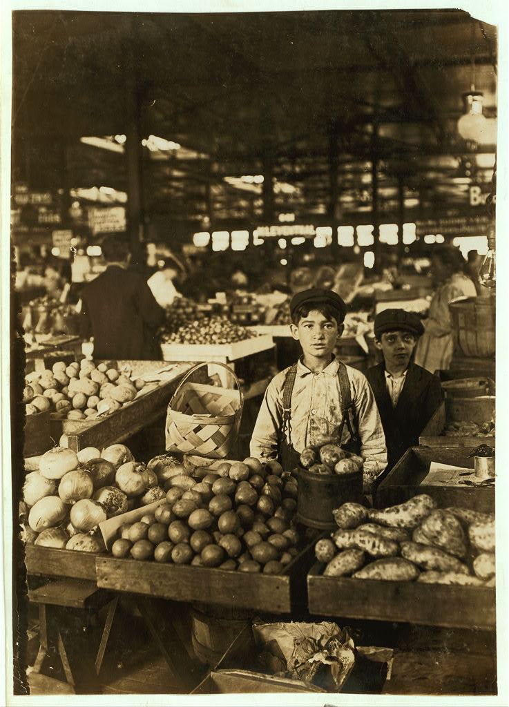 Venders frutta, Indianapolis mercato, Aug., 1908