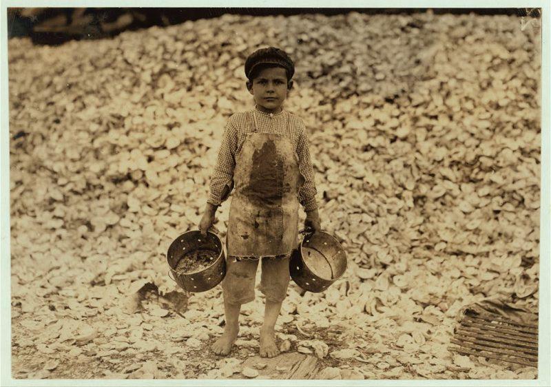 Manuel, il giovane gambero-picker,
