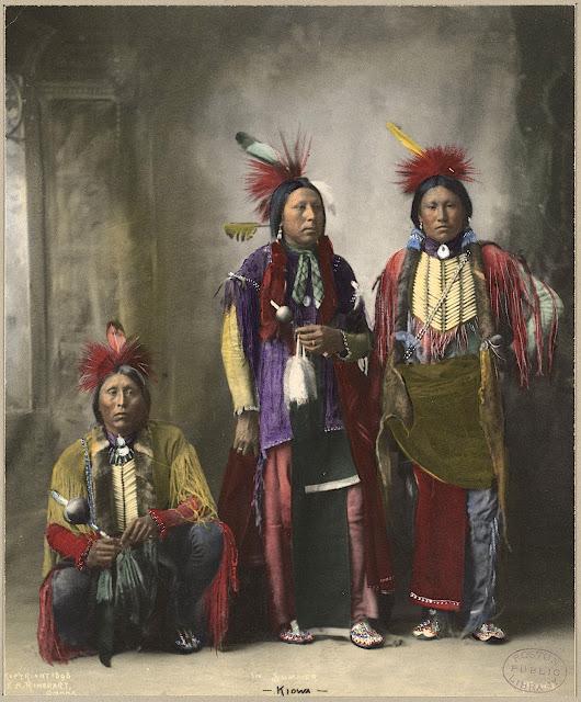 In Summer. Kiowa. 1898. Photo by F.A. Rinehart. Source - Boston Public Library.