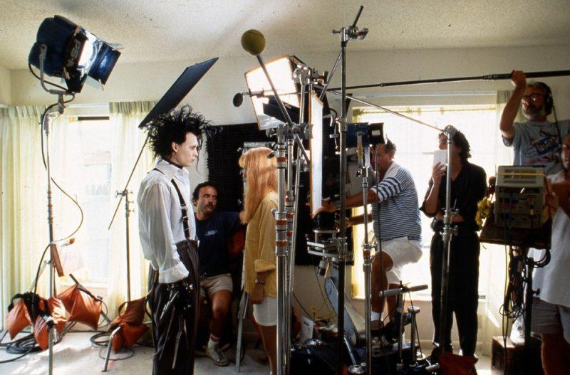 Johnny Depp and Winona Ryder share a scene as Tim Burton watches. 20th Century Fox