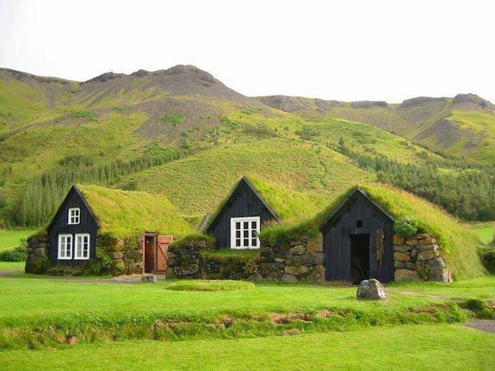 Turf house faroe island
