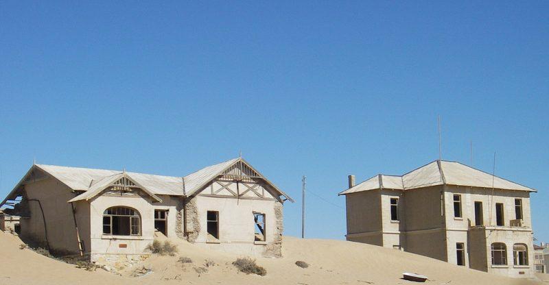 Abandoned houses.Wikimedia Commons