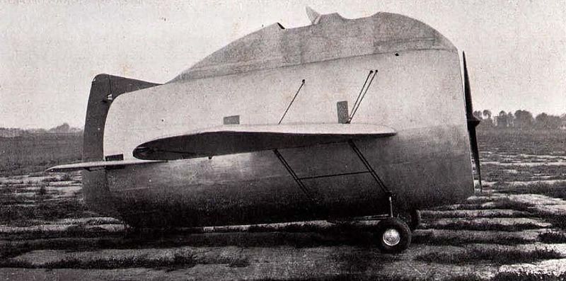 "Stipa-Caproni - An experimental ""barrel-shaped"" Italian airplane"