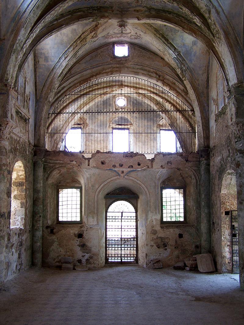 Interior of the Lower Church in Kayaköy, Turkey. Author: Darwinek CC BY-SA 3.0