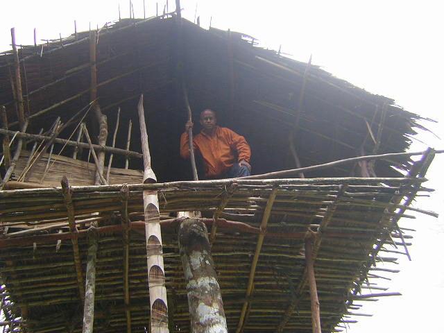 Treehouse of the Korowai tribe in Papua New Guinea.Source