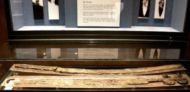Roman Museum in Butchery Lane, Canterbury, Kent. Roman swords (spathae) Source