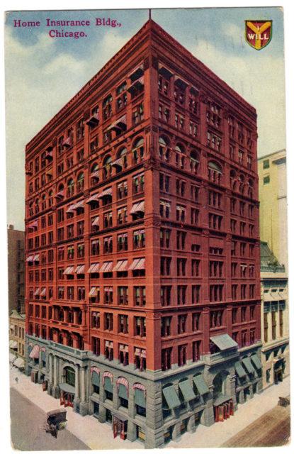 Postcard del Home Insurance Building