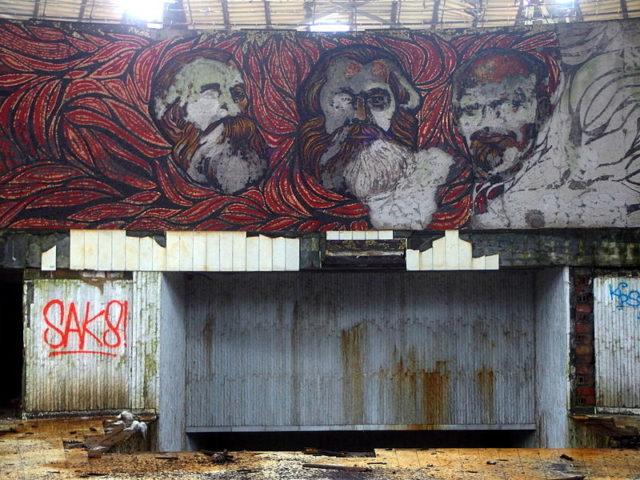 Portraits of Marx, Engels and Lenin. Source