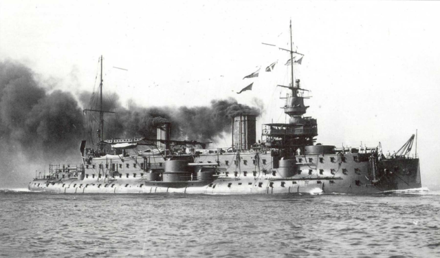 French battleship Carnot underway