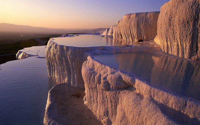 Travertine Hot Springs at Pamukkale. Photo Credit