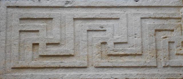 Swastika pattern in a Venetian palace that likely follows a Roman pattern, at Palazzo Roncale, Rovigo. Photo Credit