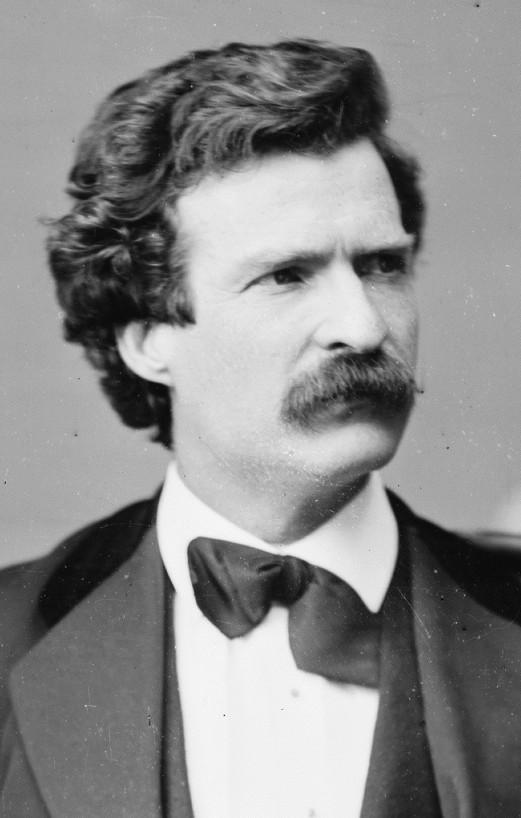 Mark Twain photo portrait