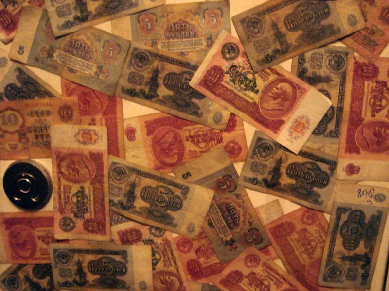 Soviet rubles. Photo Credit