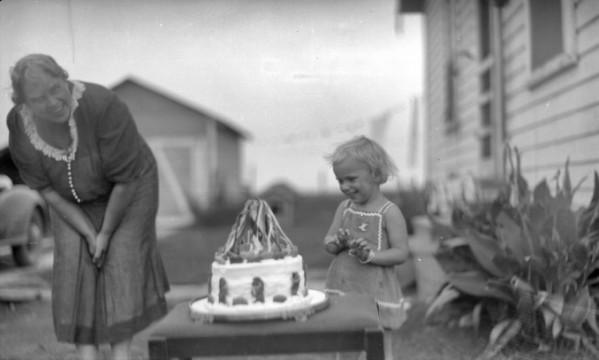 Child With Snow White Cake Circa 1910 1940