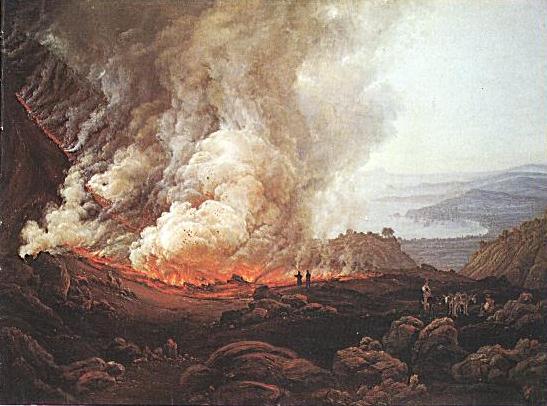 Vesuvius Erupting Painting By Norwegian Painter JC Dahl 1826
