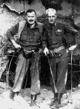 89d852cb06b Hemingway with Col. Charles  Buck  Lanham in Germany