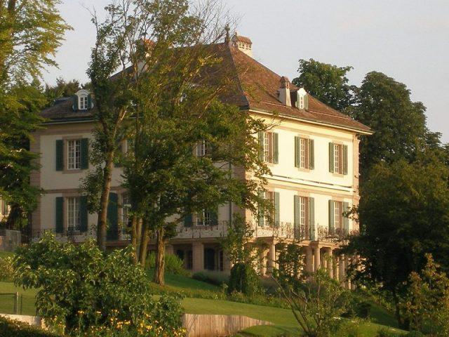 The Villa Diodati near Lake Geneva, Italy.