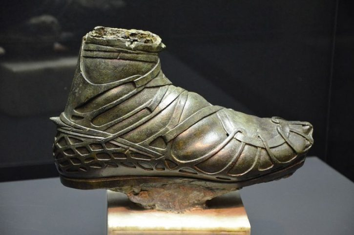 Bronze caligae from a statue of a Roman cavalryman. Photo by Carole Raddato CC BY-SA 2.0