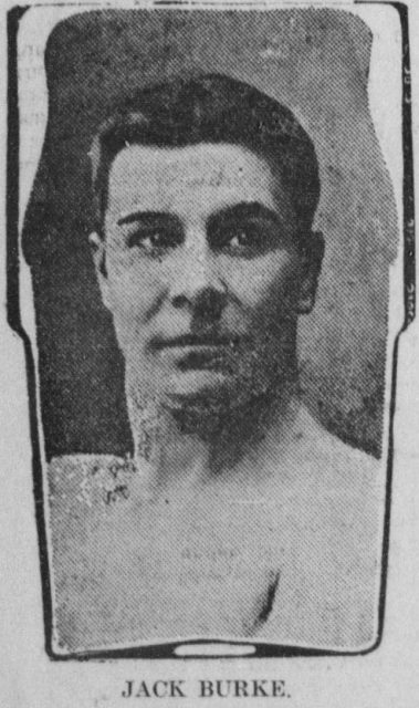 Jack Burke Jack Burke on February 10, 1904 | طولانی ترین مسابقه بوکس جهان در 110 راندFebruary 10, 1904