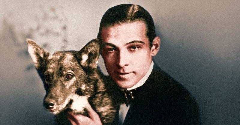 Valentino and his dog