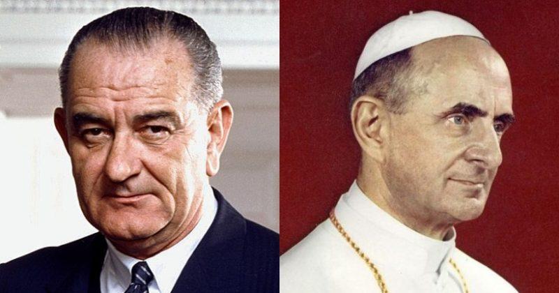 LBJ and Pope Paul VI