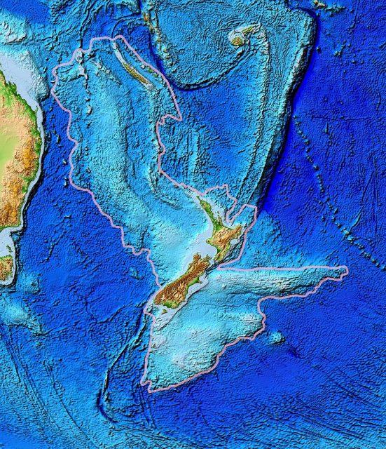 Topography of Zealandia