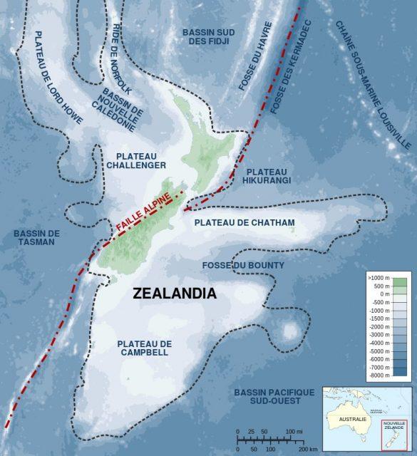 Zealandia-Continent map. Photo by © Sémhur CC BY-SA 4.0