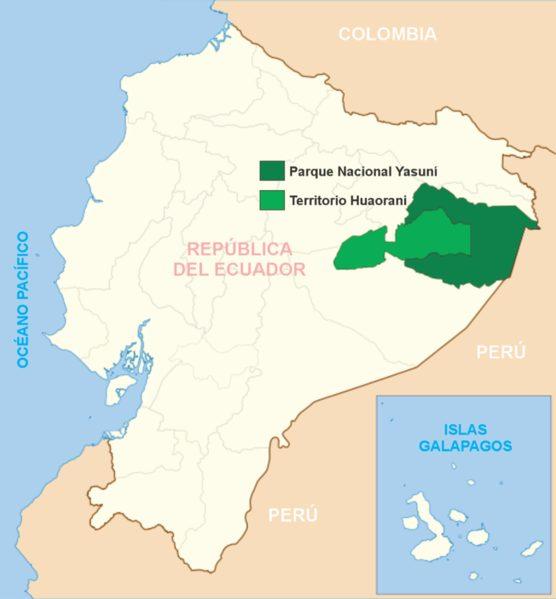 Waorani tribe location