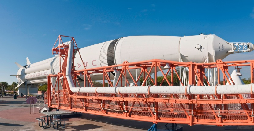Apollo rocket capsule panorama Cape Canaveral Florida USA