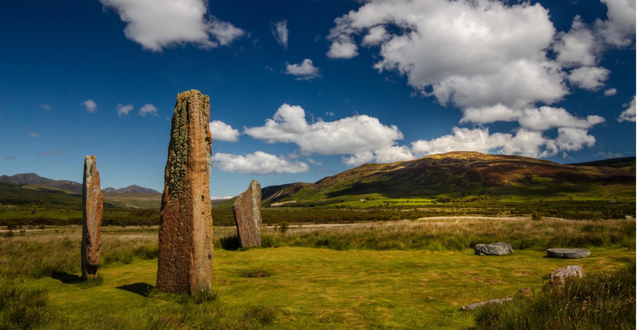 Machrie Moor stones on the Isle of Arran