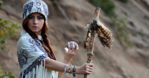 Irish Druid priestess