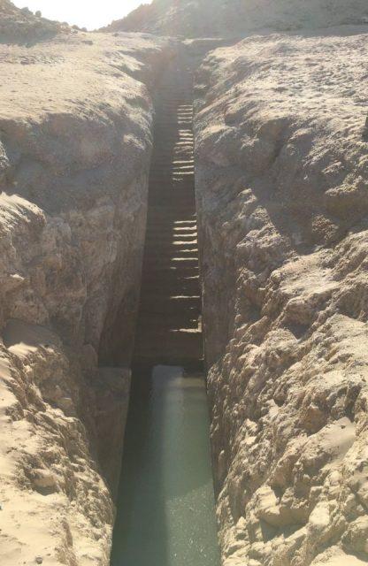 Sudan pyramid stairway