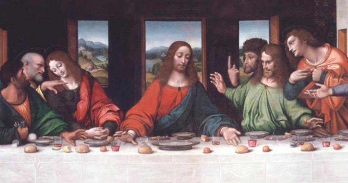 The new high-resolution copy of Leonardo's The Last Supper, Giampietrino and Giovanni Antonio Boltfraffio (ca. 1515-1520). © Royal Academy of Arts, London. Photo: Prudence Cuming Associates Limited.