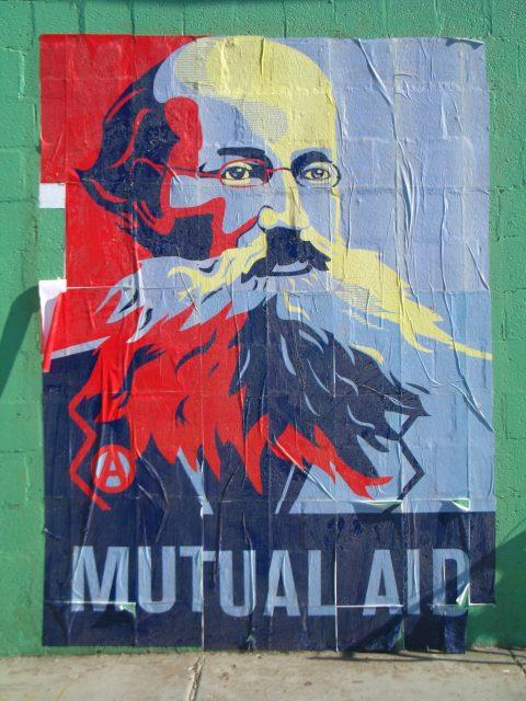 Mutual Aid mural in DC