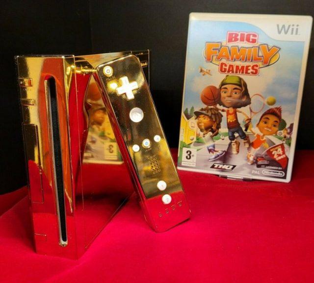 Golden Wii on display