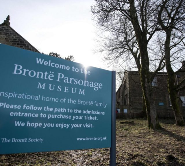 Exterior view of Brontë Parsonage Museum.