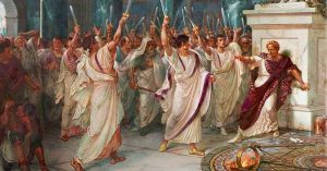 The assassination of Julius Caesar, painted by William Holmes Sullivan, c. 1888