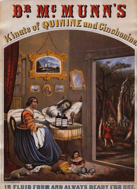Advertisement for Dr. McMunn's Elixir of Opium, circa 1862-1865. (Photo Credit: Bettman/ Getty Images)