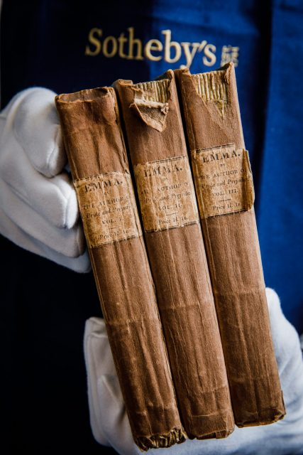 First edition copy of Jane Austen's Emma in three volumes