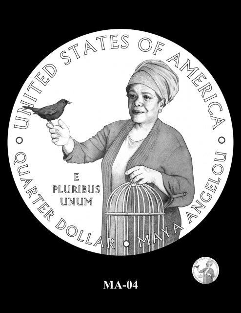 proposed image for Maya Angelou quarter