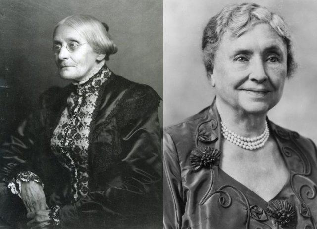 portrait of Susan B. Anthony and Helen Keller