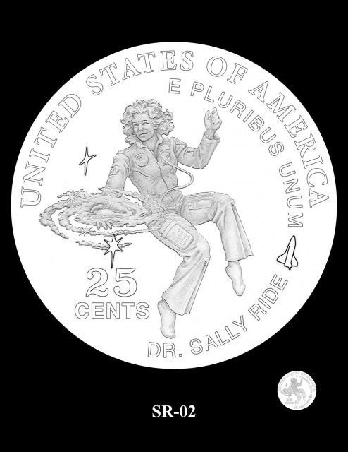 Proposed design for Sally Ride quarter