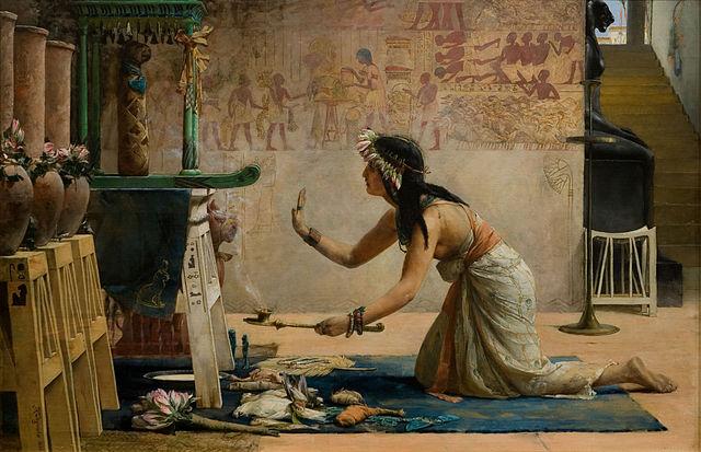 The Obsequies of an Egyptian Cat by John Weguelin