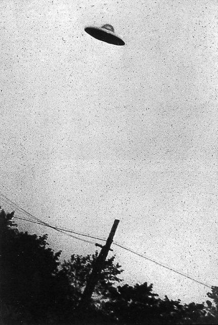 Photograph of UFO, 1952.