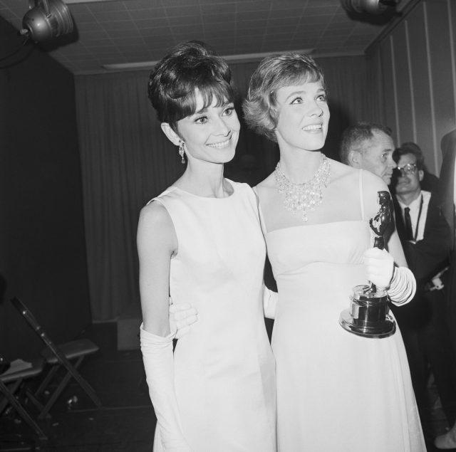 Audrey Hepburn and Julie Andrews at the Oscar's, 1965