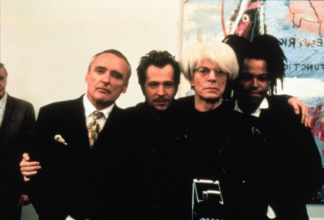 Bowie as Warhol in Basquiat