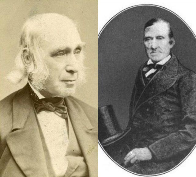 Bronson Alcott and Charles Lane, founders of Fruitlands
