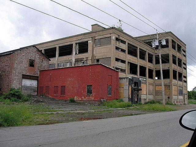 An abandoned building in Niagara Falls, New York