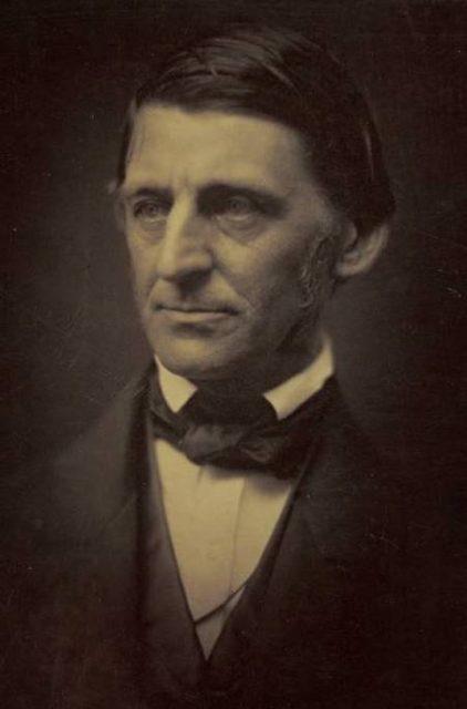 Ralph Waldo Emerson, a prominent transcendentalist