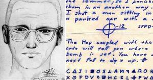 Zodiac Killer composite sketch + Z32 cipher
